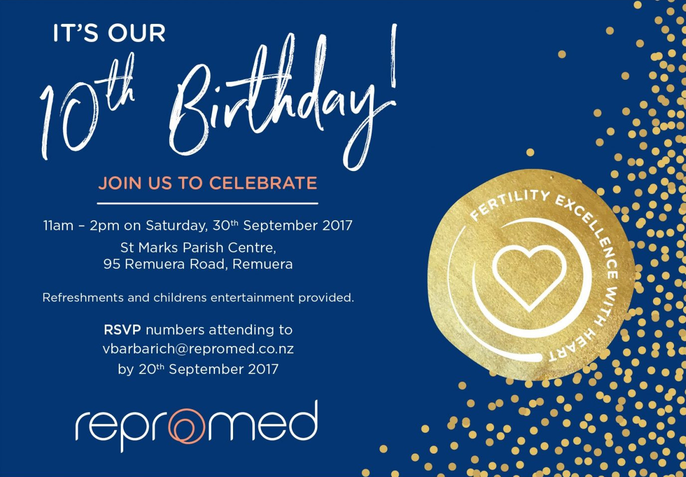 Repromed's 10th Birthday